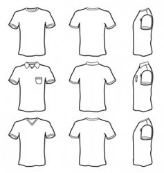 T-shirt outlines vector