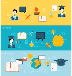 Education banners set vector