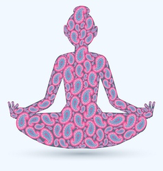 Yoga pose isolated image vector
