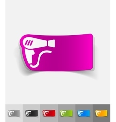 Realistic design element hair dryer vector