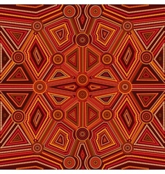 Abstract style of australian aboriginal art vector