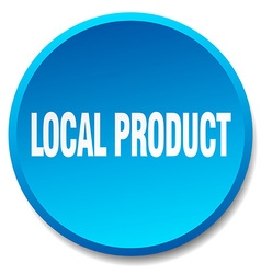 Local product blue round flat isolated push button vector