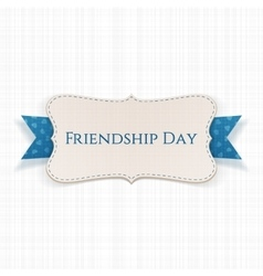 Friendship day greeting banner with ribbon vector