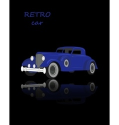 Retro car vintage collection classic garage sign vector