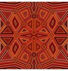 Abstract style of australian aboriginal art vector