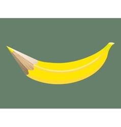 Banana pencil vector