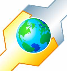be care tuning the earth vector image