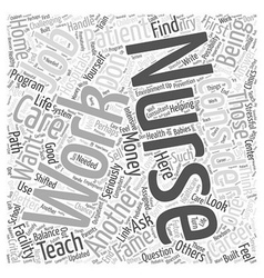 Considering a Career in Nursing Word Cloud Concept vector image vector image