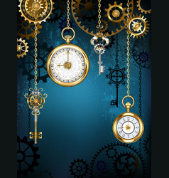 Design with clocks and gears vector
