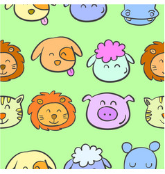 Doodle of animal colorful style cute vector