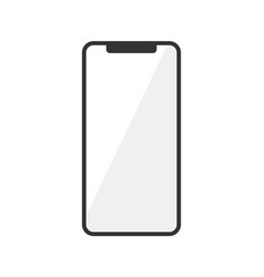 icon of smartphone isolated on white vector image vector image