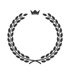 Laurel wreath icon flat crown vector