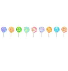 Lollipops horizontal banner vector