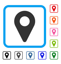 map marker framed icon vector image vector image