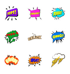 Most commonly used acronyms icons set vector