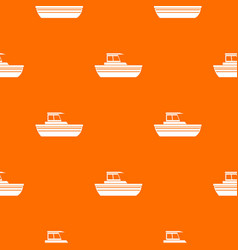 Motor boat pattern seamless vector