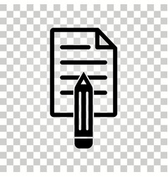 notepad icon vector image vector image