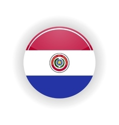 Paraguay icon circle vector image