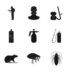 Pest poison personnel and various equipment vector