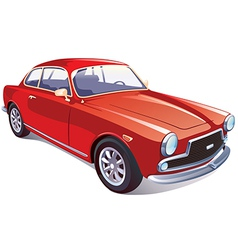 Red classic retro car vector
