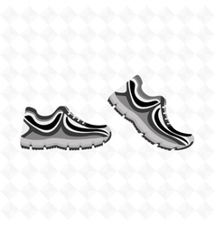 Running shoes design vector
