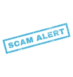Scam alert rubber stamp vector