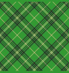 Seamless plaid green tartan check fabric texture vector