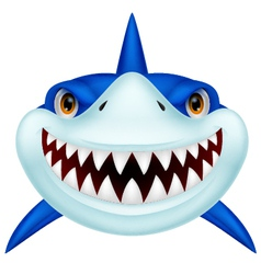 Shark head cartoon vector image