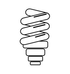 Silhouette save bulb energy icon vector