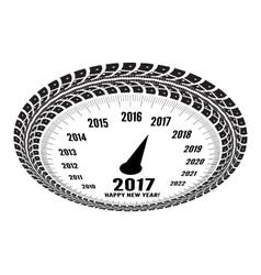 Speedometer 2017 year greeting vector image vector image