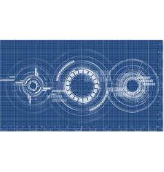 Technological blueprint technical drawing vector