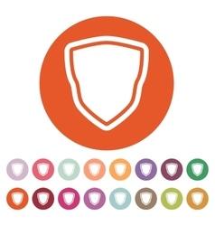 The shield icon Shield symbol Flat vector image vector image