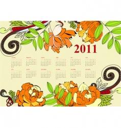 vintage calendar vector image