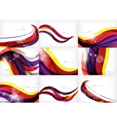 Yellow and purple color lines abstract background vector image