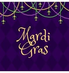 Mardi gras purple background vector
