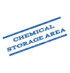 Chemical storage area watermark stamp vector