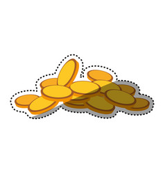 Coins money piled up vector