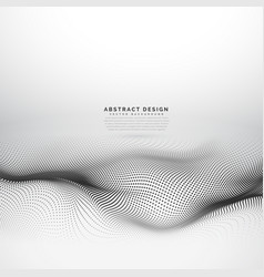 Stylish wave mesh made with black dots particles vector