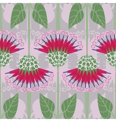 Seamless pattern with decorative burdock vector