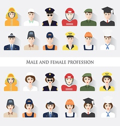 Male and female profession vector