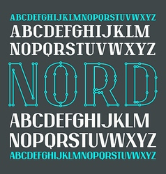 Set of uppercase contrast font vector