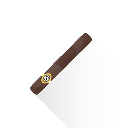 Flat cuban cigar icon vector
