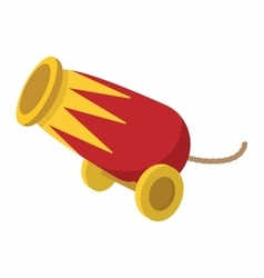Circus cannon cartoon vector
