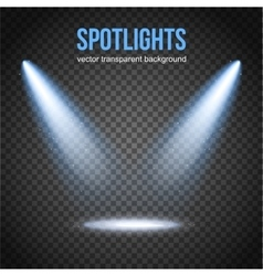 Spotlight isolated scene illumination vector