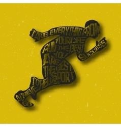 Typography lettering runner vector