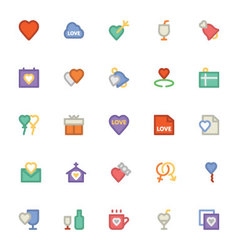 Love and romance colored icons 1 vector