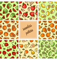 Food patterns collection vector