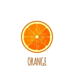 Half of orange icon in flat style vector