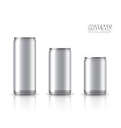 aluminium bank mock up vector image