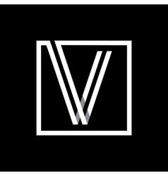 Capital letter V Monogram logo emblem vector image vector image